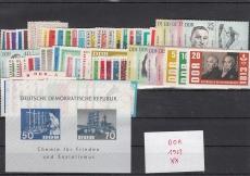 DDR Jahrgang 1963 postfrisch