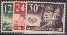 Generalgouvernement  Mi.-Nr. 56/58 **