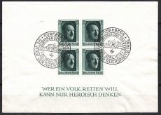 Deutsches Reich Mi.-Nr. Block 8 SST Berlin W 62 Nationale Ausstellung