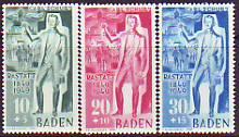 Baden Mi.-Nr. 50/52 **