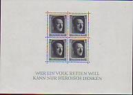Deutsches Reich Mi.-Nr. Block 7 **