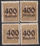 Deutsches Reich Mi.-Nr. 297/300 **