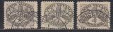 Vatikan Portomarken 8, 10, 12 y II Fotoattest
