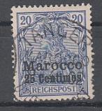 Dt. Kol. Marocco Mi.-Nr. 10 oo