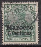 Dt. Kol. Marocco Mi.-Nr. 8 II oo