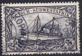 Dt. Kol. Südwestafrika Mi.-Nr. 22 oo Zahnfehler