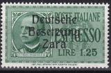 Deutsche Besetzung Zara Mi.-Nr. 38 **