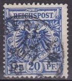 Deutsches Reich Mi.-Nr. 46 a D oo Mgl. gepr.