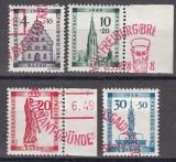 Baden Mi.-Nr. 38/41 gepr. roter Sonderstempel