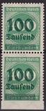 Deutsches Reich Mi.-Nr. 290 Uu ** Paar gepr.