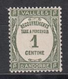 frz. Andorra Porto Mi.-Nr. 16 **
