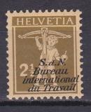Schweiz (BIT/ILO) Mi. Nr. 25 ZF **
