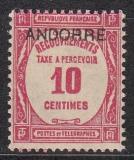 frz. Andorra Porto Mi.-Nr. 10 *