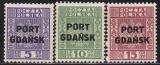 Danzig Port Gdansk Mi.-Nr. 26/28 **