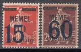 Memel Mi.-Nr. 34/35 **