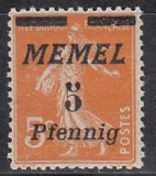 Memel Mi.-Nr. 52 **