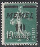 Memel Mi.-Nr. 54 a **