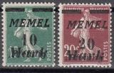 Memel Mi.-Nr. 108/09 **