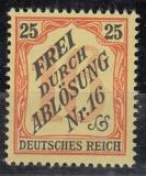Deutsches Reich Dienst Mi.-Nr. 14 ** Fotobefund