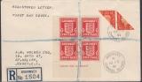 Deutsche Besetzung Guernsey Mi.-Nr. 2x I  + 2 Viererblock Brief