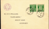 Deutsche Besetzung Guernsey Mi.-Nr. 1 d FDC