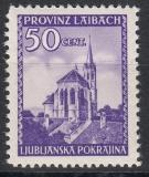 Dt.Bes. Laibach Mi.-Nr. 49 I Zf **