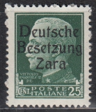Deutsche Besetzung Zara Mi.-Nr. 5 **
