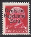 Deutsche Besetzung Zara Mi.-Nr. 8 **