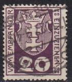 Danzig Porto Mi.-Nr. 2 a oo gepr. Zahnfehler