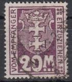 Danzig Porto Mi.-Nr. 22 Y oo gepr.