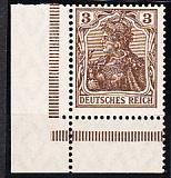 Deutsches Reich Mi.-Nr. 84 II b ** Eckrand gepr. BPP