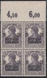 Deutsches Reich Mi.-Nr. 106 c P OR Viererblock ** gepr. BPP