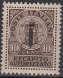 Italien - Gebührenmarken Brief - Mi.-Nr. 3 **