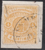 Luxemburg Mi.-Nr. 14 oo Mgl. gepr.