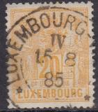 Luxemburg Mi.-Nr. 51 D oo