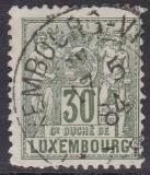 Luxemburg Mi.-Nr. 53 B oo