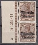 Dt. Kol. Marokko Mi.-Nr. 46 ** HAN H 1254.14