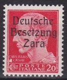 Deutsche Besetzung Zara Mi.-Nr. 20 1-4 **
