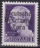 Deutsche Besetzung Zara Mi.-Nr. 38 *