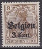 Landespost in Belgien Mi.-Nr. 11 a II ** gepr. BPP