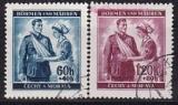 Böhmen und Mähren Mi.-Nr. 53/54 oo