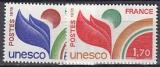 Frankreich-UNESCO Mi.-Nr. 19/20 **