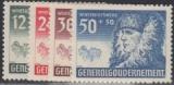 Generalgouvernement  Mi.-Nr. 59/62 **