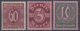 Deutsches Reich Dienst Mi.-Nr. 66/68 **
