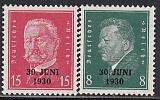 Deutsches Reich Mi.-Nr. 444/45 **