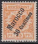 Dt. Kol. Marokko Mi.-Nr. 5 a *