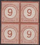Deutsches Reich Mi.-Nr. 30 * Viererblock Fotobefund