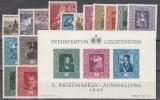 Liechtenstein - Jahrgang 1949 **