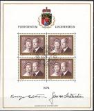 Liechtenstein Kleinbogen Mi.-Nr. 614 I oo