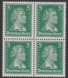 Deutsches Reich Mi.-Nr. 387 ** Viererblock